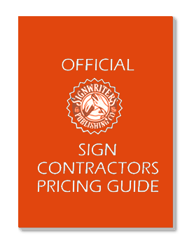 signwriters publishing sign contractors pricing guide rh schoolofsignarts com sign painting pricing guide sign pricing guide australia