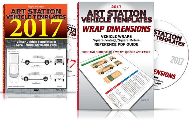 2017 Bundle Vehicle Templates Wrap Dimensions