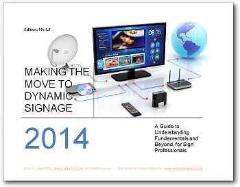 Dynamic digital signage guide book